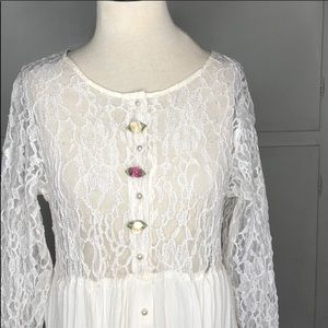 Vintage Lace Dress or Cover Dress